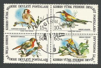 North Cyprus Stamps SG 140-43 1983 Birds of Cyprus - USED (L089)