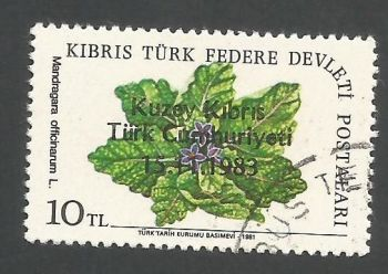 North Cyprus Stamps SG 144 1983 10tl - USED (L090)