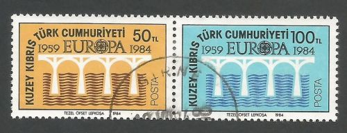 North Cyprus Stamps SG 148-49 1984 Europa Bridge - USED (L092)