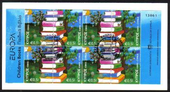 Cyprus Stamps SG 1219-20 (SB13) 2010 Europa Childrens books - Booklet CTO USED (c670)