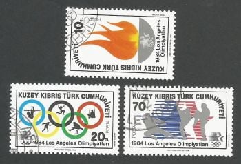 North Cyprus Stamps SG 150-52 1984 Los Angeles Olympic Games - CTO USED (L093)