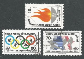 North Cyprus Stamps SG 150-52 1984 Los Angeles Olympic Games - CTO USED (L094)