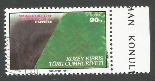 North Cyprus Stamps SG 156 1984 Forestry - USED (L099)