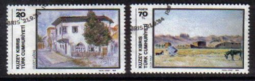 North Cyprus Stamps SG 157-58 1984 Art 3rd Series - USED (b603)