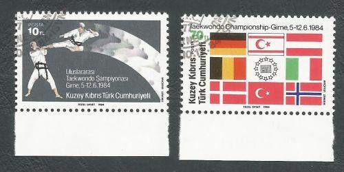 North Cyprus stamps SG 161-62 1984 TaeKwondo - CTO USED (L111)