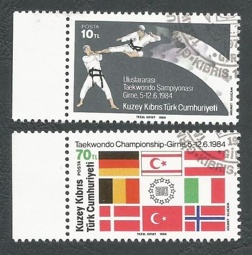 North Cyprus stamps SG 161-62 1984 TaeKwondo - CTO USED (L112)