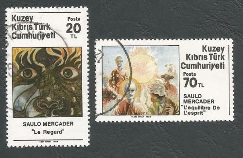 North Cyprus Stamps SG 163-64 1984 Saulo Mercader Artist - USED (L114)