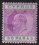 Cyprus Stamps SG 063 1904 30 Paras - MH (g519)