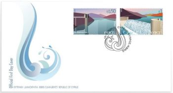 Cyprus Stamps SG 2020 Water FDC sample image
