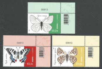 Cyprus Stamps SG 2020 (a) Butterflies of Cyprus Control numbers - MINT