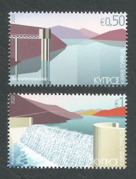 Cyprus Stamps SG 2020 (b) Water reservoirs - MINT