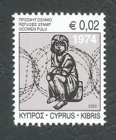 Cyprus Stamps 2020 Refugee Fund Tax - MINT