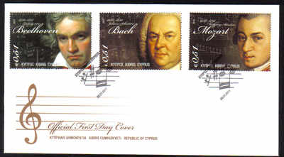 Cyprus Stamps SG 1238-40 2011 Famous Composers of 18th Century - Official F