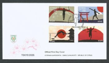 Cyprus Stamps SG 2020 (d) Olympic Games Tokyo 2020 - Official FDC