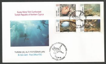 North Cyprus Stamps SG 548-51 2002 Tourism - Official FDC