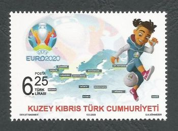 North Cyprus Stamps SG 2020 (a) UEFA EURO 2020 Football Championship - MINT
