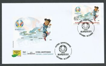 North Cyprus Stamps SG 2020 (a) UEFA EURO 2020 Football Championship - Official FDC