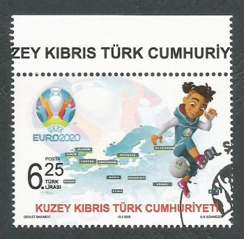 North Cyprus Stamps SG 2020 (a) UEFA EURO 2020 Football Championship - CTO USED (L154)