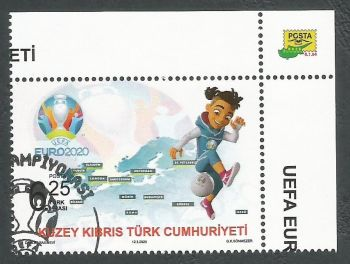 North Cyprus Stamps SG 2020 (a) UEFA EURO 2020 Football Championship - CTO USED (L155)