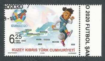 North Cyprus Stamps SG 2020 (a) UEFA EURO 2020 Football Championship - CTO USED (L156)
