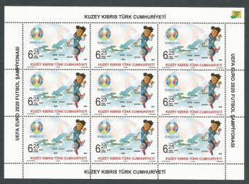North Cyprus Stamps SG 2020 (a) UEFA EURO 2020 Football Championship - Full sheet MINT