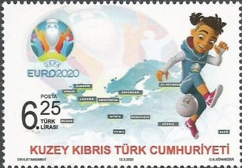 North Cyprus Stamps SG 2020 UEFA EURO 2020 Football Championship Mint