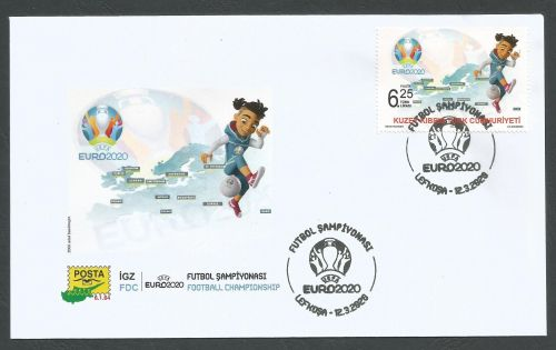North Cyprus Stamps SG 2020 UEFA EURO 2020 Football Championship - FDC
