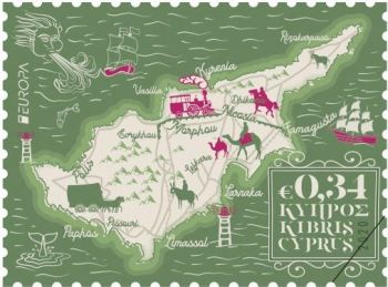 Cyprus Stamps EUROPA 2020 Ancient Postal Routes 0.34c