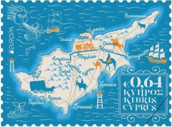 Cyprus Stamps EUROPA 2020 Ancient Postal Routes 0.64c