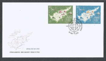 Cyprus Stamps SG 2020 (e) Europa Ancient Postal Routes - Official FDC