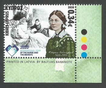Cyprus Stamps SG 2020 (f) International year of the Nurse and Midwife and 200 years since the birth of Florence Nightingale - CTO USED (L160)