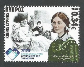 Cyprus Stamps SG 2020 (f) International year of the Nurse and Midwife and 200 years since the birth of Florence Nightingale - MINT