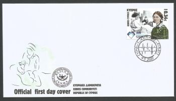 Cyprus Stamps SG 2020 (f) International year of the Nurse and Midwife and 200 years since the birth of Florence Nightingale - Official FDC
