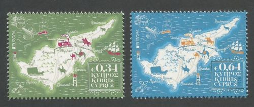 Cyprus Stamps SG 2020 (e) Europa Ancient Postal Routes - MINT