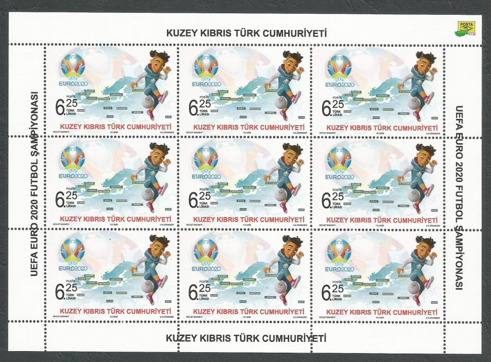 North Cyprus Stamps SG 2020 (a) UEFA EURO 2020 Football Championship - Full