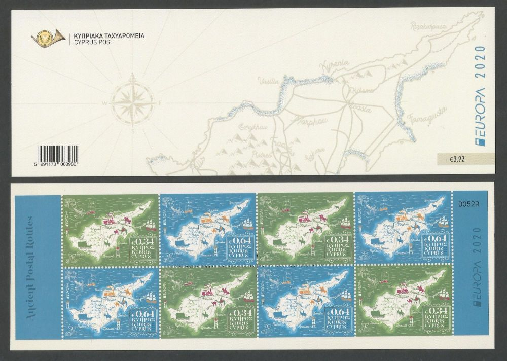 Cyprus Stamps EUROPA 2020 Ancient Postal Routes Booklet