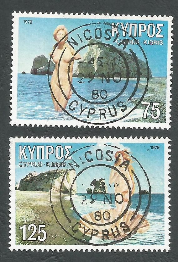 Cyprus Stamps SG 518-19 1979 Aphrodite - USED (L219)