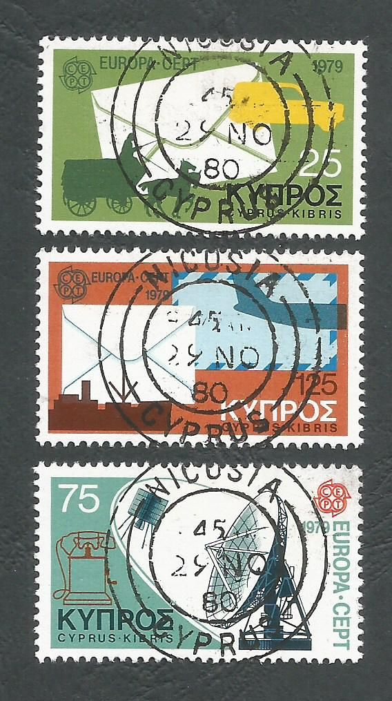 Cyprus Stamps SG 520-22 1979 Europa Communications - USED (L218)