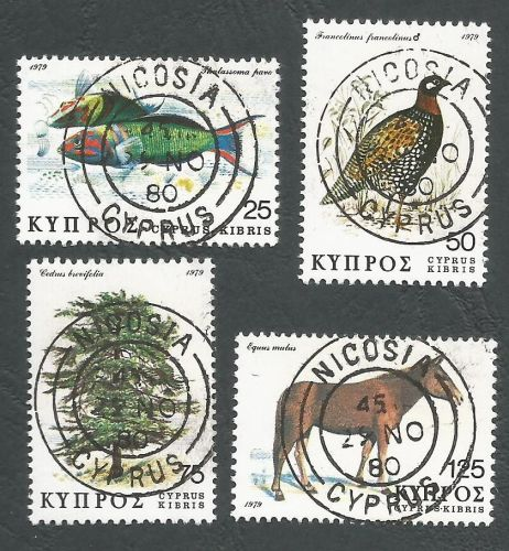 Cyprus Stamps SG 523-26 1979 Flora and Fauna - CTO USED (L217)