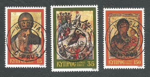 Cyprus Stamps SG 533-35 1979 Christmas - CTO USED (L215)