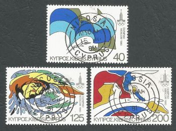 Cyprus Stamps SG 542-44 1980 Moscow Olympic Games - CTO USED (L200)