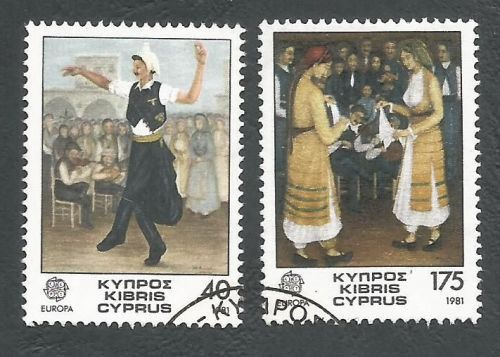 Cyprus Stamps SG 567-68 1981 Europa Folklore - USED (L194)
