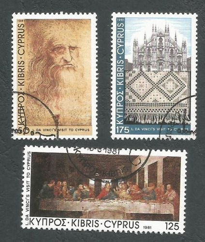 Cyprus Stamps SG 569-71 1981 Leanardo Da Vinci - USED (L192)