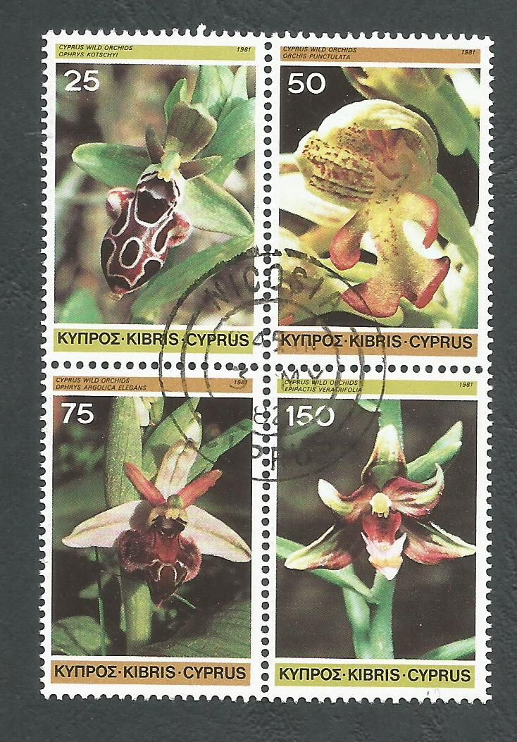 Cyprus Stamps SG 572-75 1981 Orchids - USED (L191)