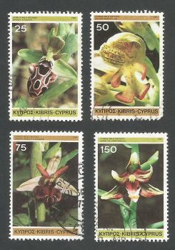Cyprus Stamps SG 572-75 1981 Orchids - CTO USED (L189)