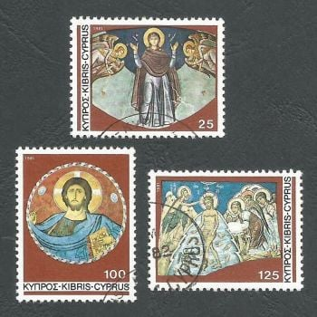 Cyprus Stamps SG 581-83 1981 Christmas murals - USED (L185)