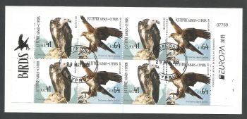 Cyprus Stamps SG 2019 (d) Europa National Birds - Booklet CTO USED (L169)