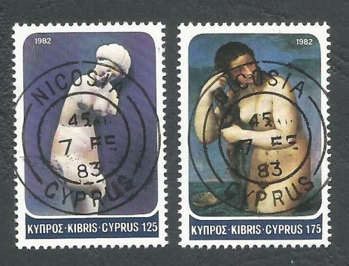Cyprus Stamps SG 584-85 1982 Aphrodite - CTO USED (L183)