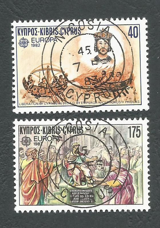 Cyprus Stamps SG 586-87 1982 Europa Historic events - CTO USED (L182)
