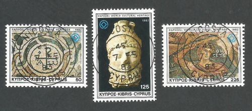 Cyprus Stamps SG 588-90 1982 World Cultural Heritage - CTO USED (L181)